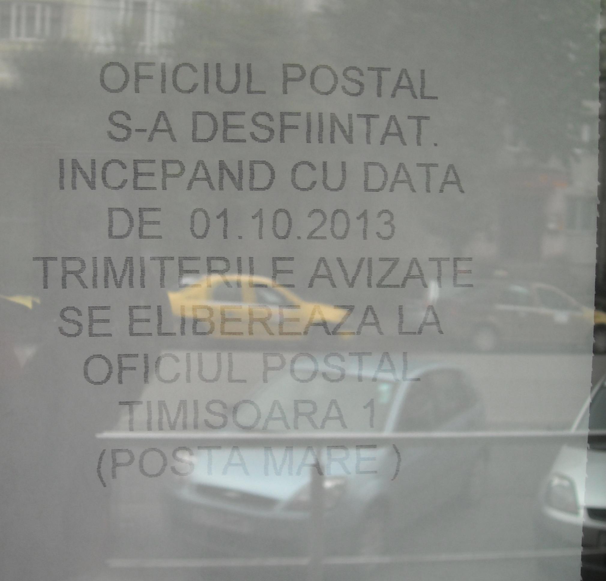 posta inchisa