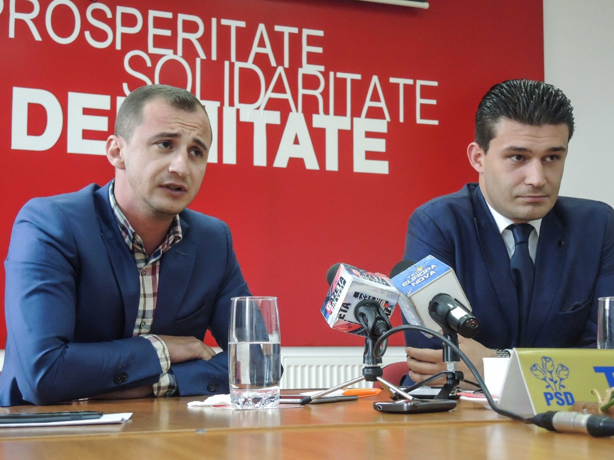 Alfred Simonis, presedinte TSD Timis, Sebastian Raducanu presedinte PSD Timisoara  04