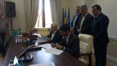 Semnarea contractului pentru lucrările de la Sânmihaiu Român