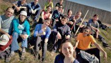 Voluntarii au plantat 200 de puieți în satul Dobrești