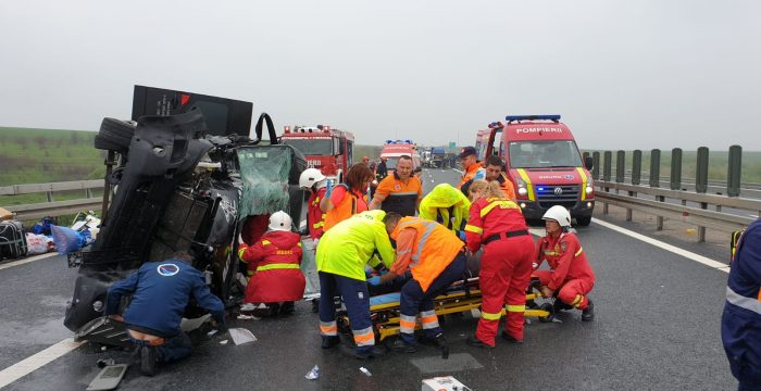 Accident Autostrada Timișoara - Arad