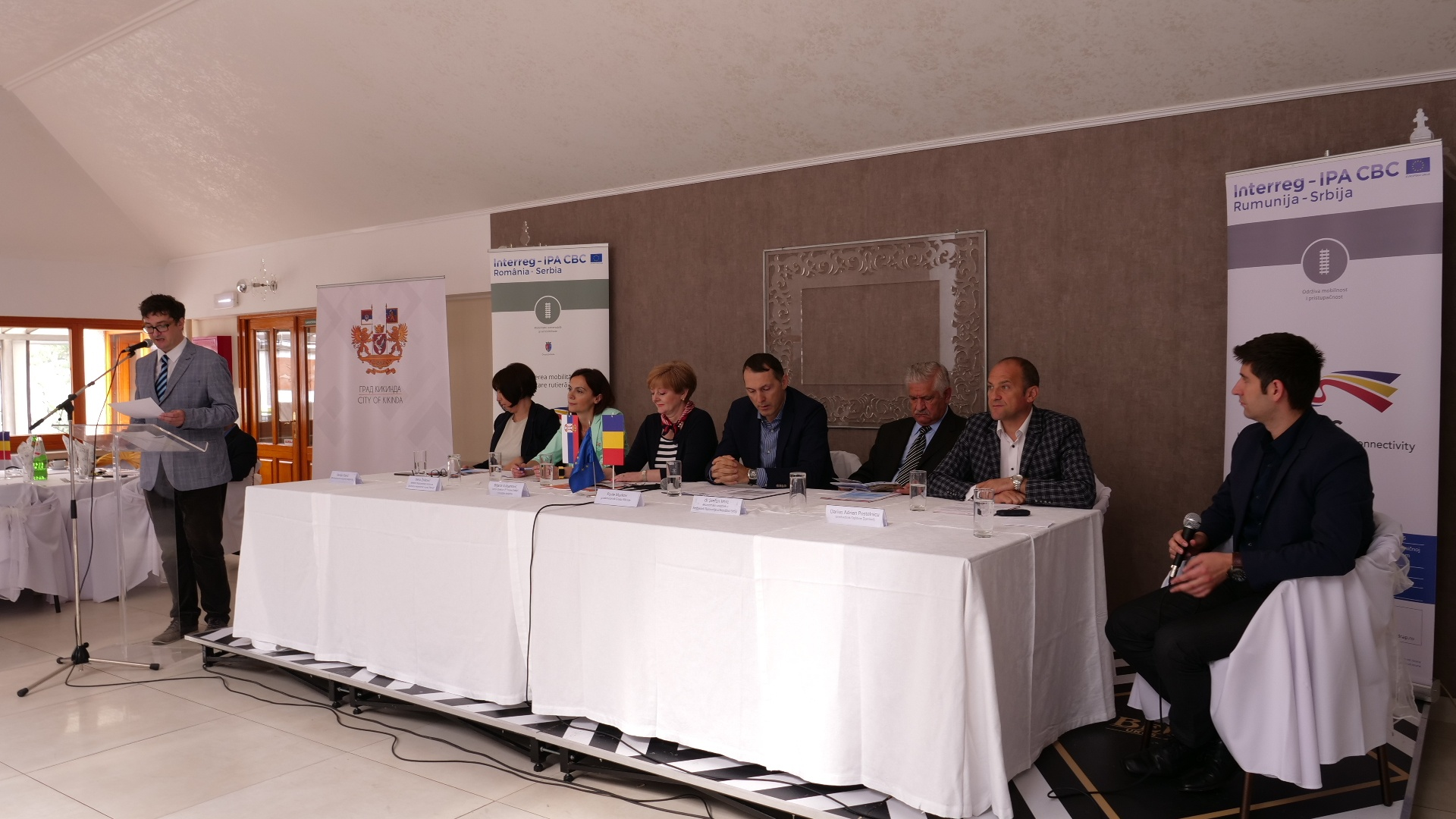 """Conferința proiectului de Cooperare Transfrontalieră """"Creșterea mobilității prin dezvoltare rutieră în Banat"""""""