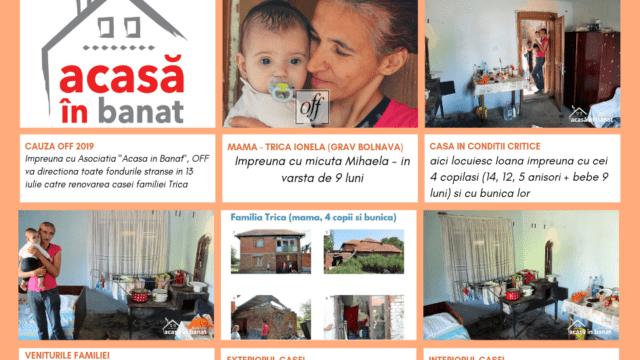 """Continuă faptele bune: """"Acasă în Banat"""" vrea să renoveze casa Ionelei, o mamă care își crește cei patru copii de una singură"""