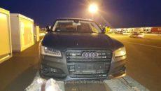 AUDI S8, confiscat de polițiștii de frontieră