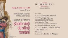 Șapte vieți de sfinți români, lansare de carte la Humanitas Timișoara