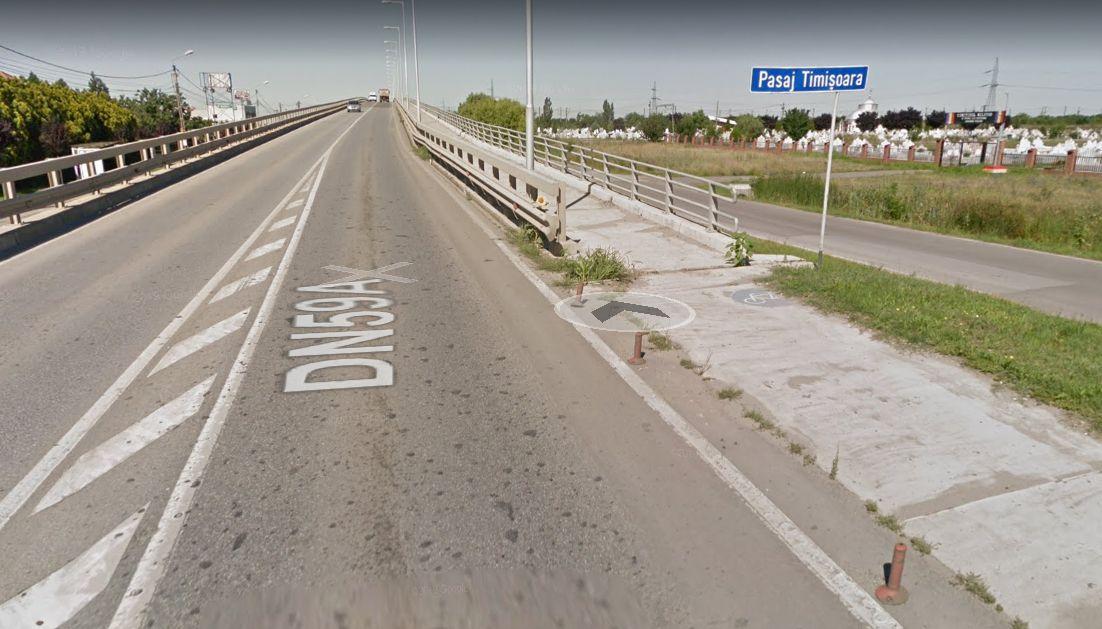 Pe pasajul dinspre Săcălaz se introduc restricţii de circulaţie