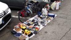 comert pe trotuare zona Flavia