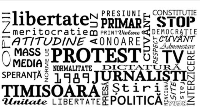 protest ziaristi