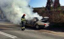 masina incendiata Lugoj