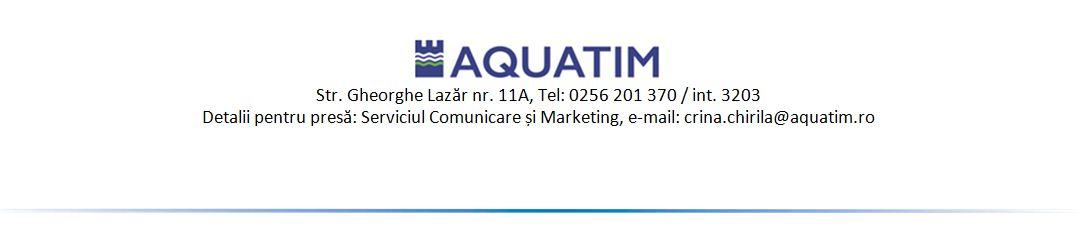 Aquatim Comunicat de presă